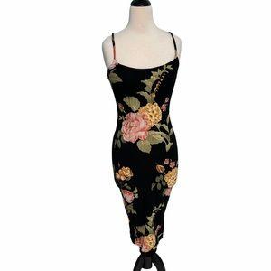JLuxLabel Floral Sleeveless Dress Black Medium